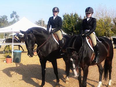 Katrina and Morgan on Horseback