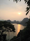 Halong Bay Sunset by Annie Muto