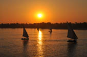 Sunset over the Nile by Susan Morning