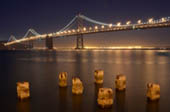 Bay Bridge at Night by Doug Croft
